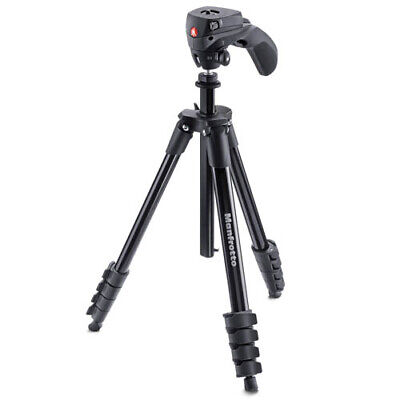 AU108.85 • Buy Manfrotto Compact Action Tripod (MKCOMPACTACN-BK) [MANFROTTO WARR]