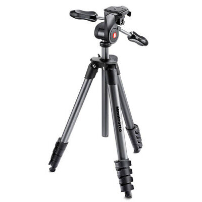 AU148.85 • Buy Manfrotto Compact Advanced Tripod & 3-Way Head [MANFROTTO WARR]