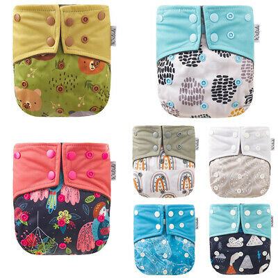 AU18.99 • Buy Modern Cloth Nappies Bamboo Charcoal Reusable Nappy Baby OSFM MCN Cute Designs