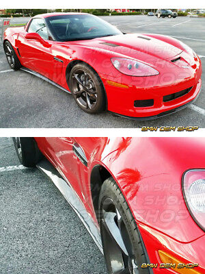 05-13 Primed Chevrolet Corvette C6 Side Skirts Extension Base Model Only • 219$