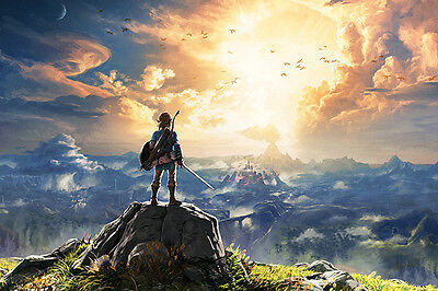 $12.49 • Buy The Legend Of Zelda Poster 48x32  36x24  21x14  Breath Of The Wild Print Silk