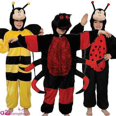 Kids Insect Bug Book Day Boys Girls Childs Fancy Dress Costume Jumpsuit 3-8 Year • 16.99£