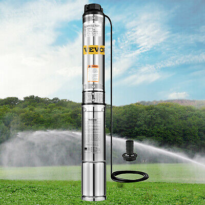 AU109.99 • Buy 370W Submersible Bore Water Pump Deep Well Irrigation Electric 240V W/1.5M Cable