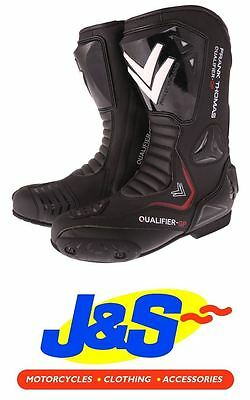 £99.99 • Buy Frnk Thomas Qualifier GP Motorcycle Boots Racing Leather Sports Track Black J&S