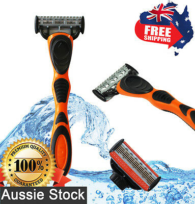 AU12.95 • Buy Men's Razor 5-Blade + Trimmer Blades M5 Plastic Handle Shaving Refills