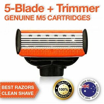 AU22.95 • Buy Razor Blade Replacement Cartridges (5-Blade + Trimmer Blade) M5