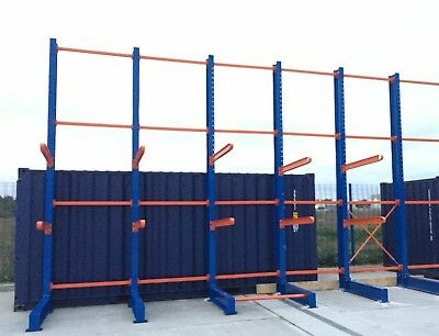 £11400 • Buy New Single Sided Outdoor Cantilever Racking Supplied & Delivered Anywhere In UK