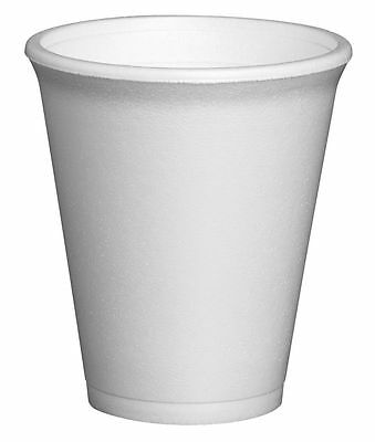 Polystyrene Insulated Foam Cups Disposable Takeaway Coffee Tea Select Size & Qty • 52.95£