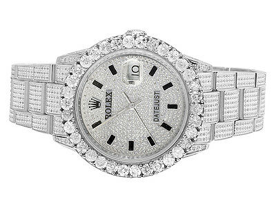 $ CDN13425.01 • Buy Mens Rolex Datejust Oyster Quickset 16014 Steel 36MM Diamond Watch 10.75 Ct