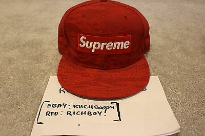 $ CDN450 • Buy *NEW* DS New Era Supreme  Red Tiger Camo  Fitted - Size 7 3/8