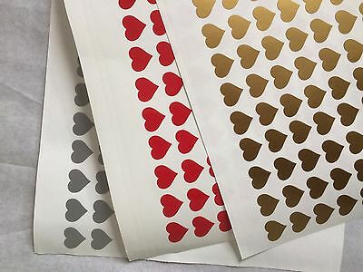 80 HEART SHAPES WINE GLASS VINYL STICKERS / DECAL Party Wedding VALENTINES • 1.99£