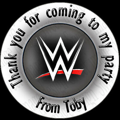 35 Personalised WWE INSPIRED Stickers  Labels Birthday • 1.28£