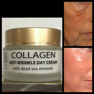 Pure Collagen Best Anti Wrinkle And Skin Lifting Dead Sea Anti Ageing Day Cream • 8.99£