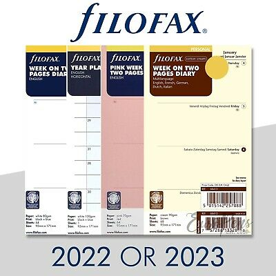 Filofax Personal Size Diary Insert Refills - Select Year 2021 Or 2022  • 8.95£