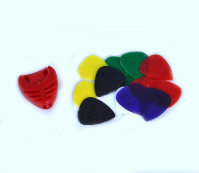 $ CDN5.97 • Buy 14 X HARD NYLON GUITAR PICKS & FREE PLECTRUM HOLDER Gauge Grip Acoustic Electric