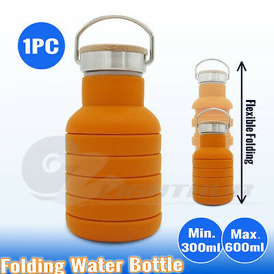 AU14.95 • Buy Collapsible Sport Office Water Bottle Outback Cycling Hiking Kettle Office Cup