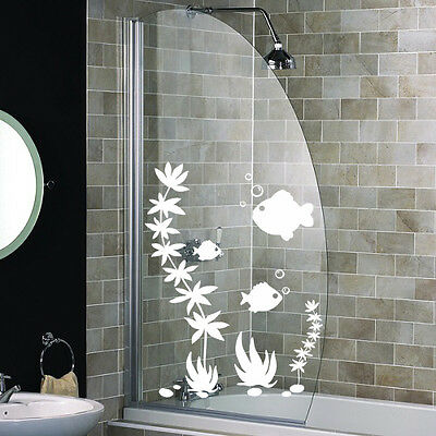 FISH SHOWER SCREEN STICKERS Bathroom Wall Stickers WALL ART DECAL STICKER S56 • 0.99£
