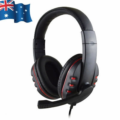 AU17.95 • Buy Gaming Headset Headphone With Microphone Volume Wired For Sony PS4 PlayStation 4