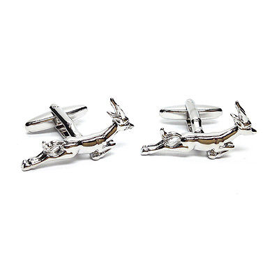 Stag South Africa Springbok CUFFLINKS Wildlife Club Emblem Birthday Present Gift • 13.99£