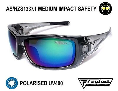 AU59.95 • Buy Fuglies PP19 Safety Sunglasses - ASNZS1337 Polarised Tinted Safety Glasses