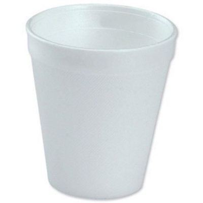 100 Polystyrene Cups White Foam Drink Hot Cold Coffee Disposable Party Tableware • 8.69£