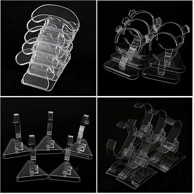 £3.87 • Buy 5PC Clear Acrylic Watch Bracelet Display Holder Rack Stand Retail Shop Showcase