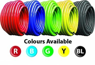 £9 • Buy PVC Black, Blue, Red, Green, Yellow Flexible Reinforced Braided Air & Water Hose