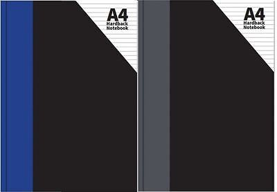 £2.40 • Buy A4 Hardback Notebook 120 Pages 54gsm Blue Or Grey