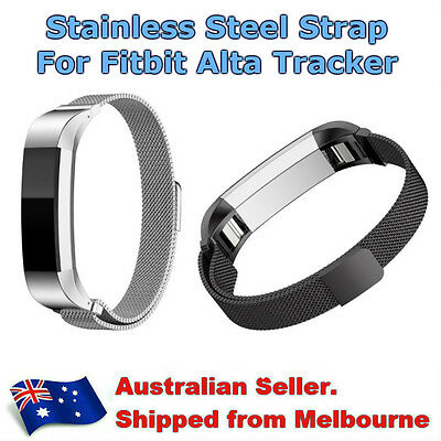 AU15.95 • Buy Magnetic Metal Stainless Steel Mesh Watch Band Bracelet Strap For Fitbit Alta HR