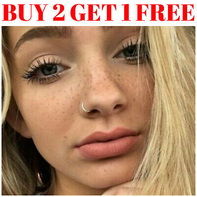 Fake Nose Ring Septum Ring Hoop Cartilage Tragus Helix Small Thin Piercing • 1.79£