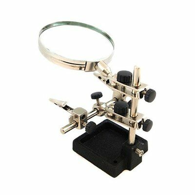 Jewellery / Craft Helping Hands Clamp With Magnifying Glass • 7.91£