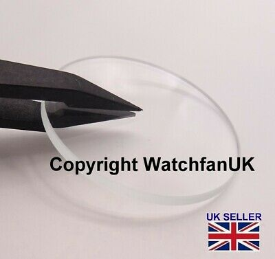 £4.20 • Buy Watch Glass Mineral Crystal Lens Flat 2.5mm Thick Range 17mm To 40mm JAPAN MADE