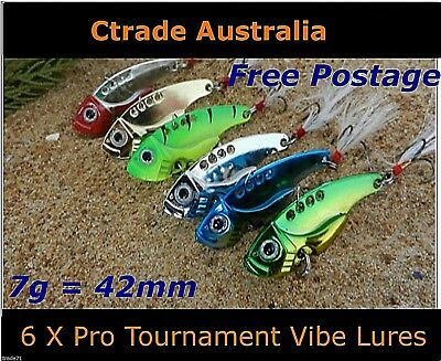 AU12.55 • Buy Vibe Fishing Lures Switch Blade Lure 6 Pack 42mm 7g Pro Vibes Bream Flathead A1!