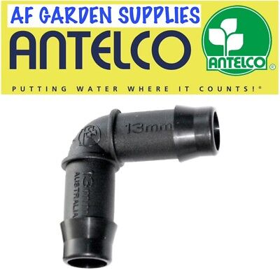 13mm Elbow Fitting / Connector Antelco Garden Irrigation Watering For LDPE Pipe • 4.90£