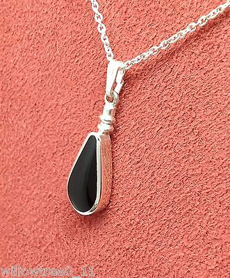 £38 • Buy Whitby Jet And Sterling Silver Pendant Jp115 Handmade In Whitby