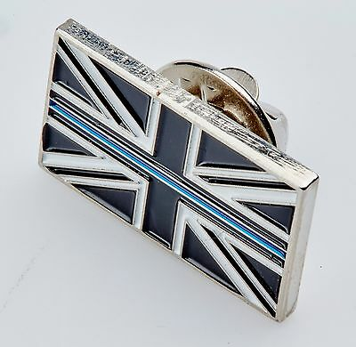 £4.99 • Buy Thin Blue Line Union Jack UK Metal Tie Pin Lapel Badge Police Officer Constable