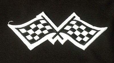 £2.99 • Buy Chequered Checkered Flag Racing Gp F1 Motorsports Badge Iron Sew On Patch