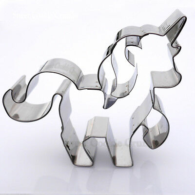 AU16.72 • Buy Prancing Unicorn Cookie Cutter - Stainless Steel