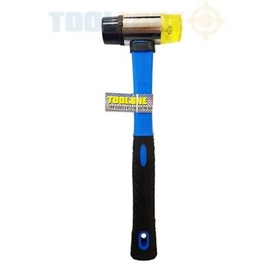 30mm Mini Small Fibreglass Handle Rubber And Nylon 2 Face Hammer Mallet Tool • 6.43£