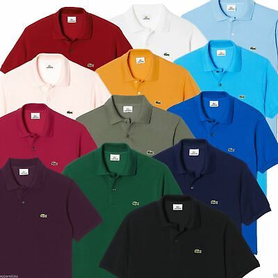 Lacoste Men's L1212 Polo Shirt Cotton Classic Fit - All Colours - Size 3 4 5 6 7 • 45£