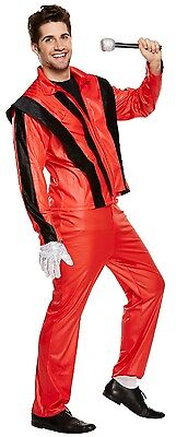Mens Thriller Pop Star Stag Do Night Halloween Fancy Dress Costume Outfit  • 19.99£