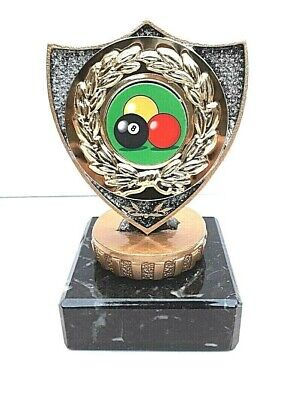 £7.99 • Buy Pool Trophy, Solid Plastic Top, Marble Base. Size 9.5 Cm Free Engraving