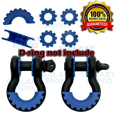 $19.89 • Buy BLUE D-Ring Shackle Isolator & Washers 6pcs Set Rattling Protection Cover Kits