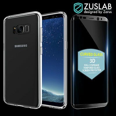 AU19.99 • Buy Galaxy S8 S8 Plus Slim Hybrid Case Tempered Glass Screen Protector For Samsung