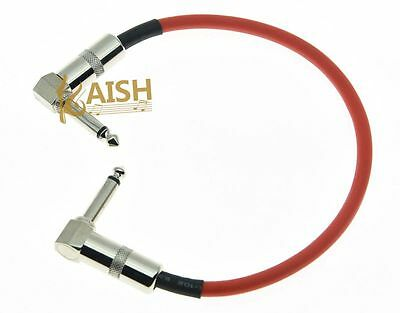 $ CDN5.70 • Buy Right Angle 30cm Guitar Effect Pedal Cable Effects Patch Cord Pedal Cables Red