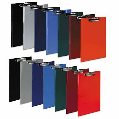 A4 Clipboard Solid PVC Or Fold Over Clip Board Document Pen Holder Foolscap • 4.40£