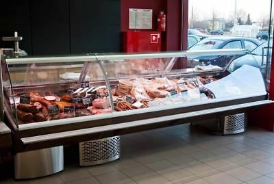 Maxi Inox New Serve Over Counter 2.5m Chiller Meat Deli Counter Wood Effect • 2,850£