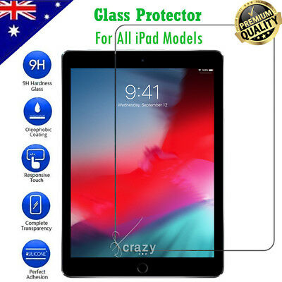 AU9.99 • Buy Tempered Glass Screen Protector For Apple IPad 5th /6th Gen Air 1 2 Pro 11 10.5