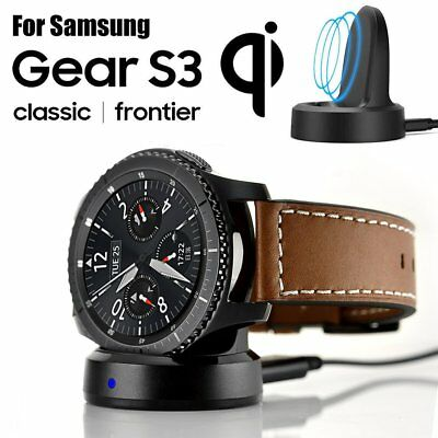 AU15.60 • Buy Wireless Charging Dock + 2 Screen Protector For Samsung Gear S3 Classic/Frontier