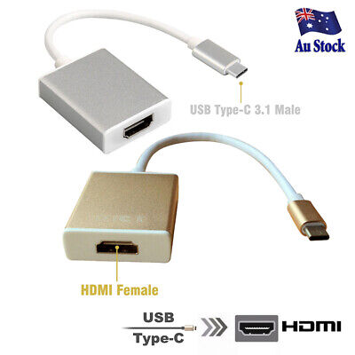 AU11.65 • Buy USB-C Type C USB 3.1 Male To HDMI Female HDTV 1080p Adapter Cable